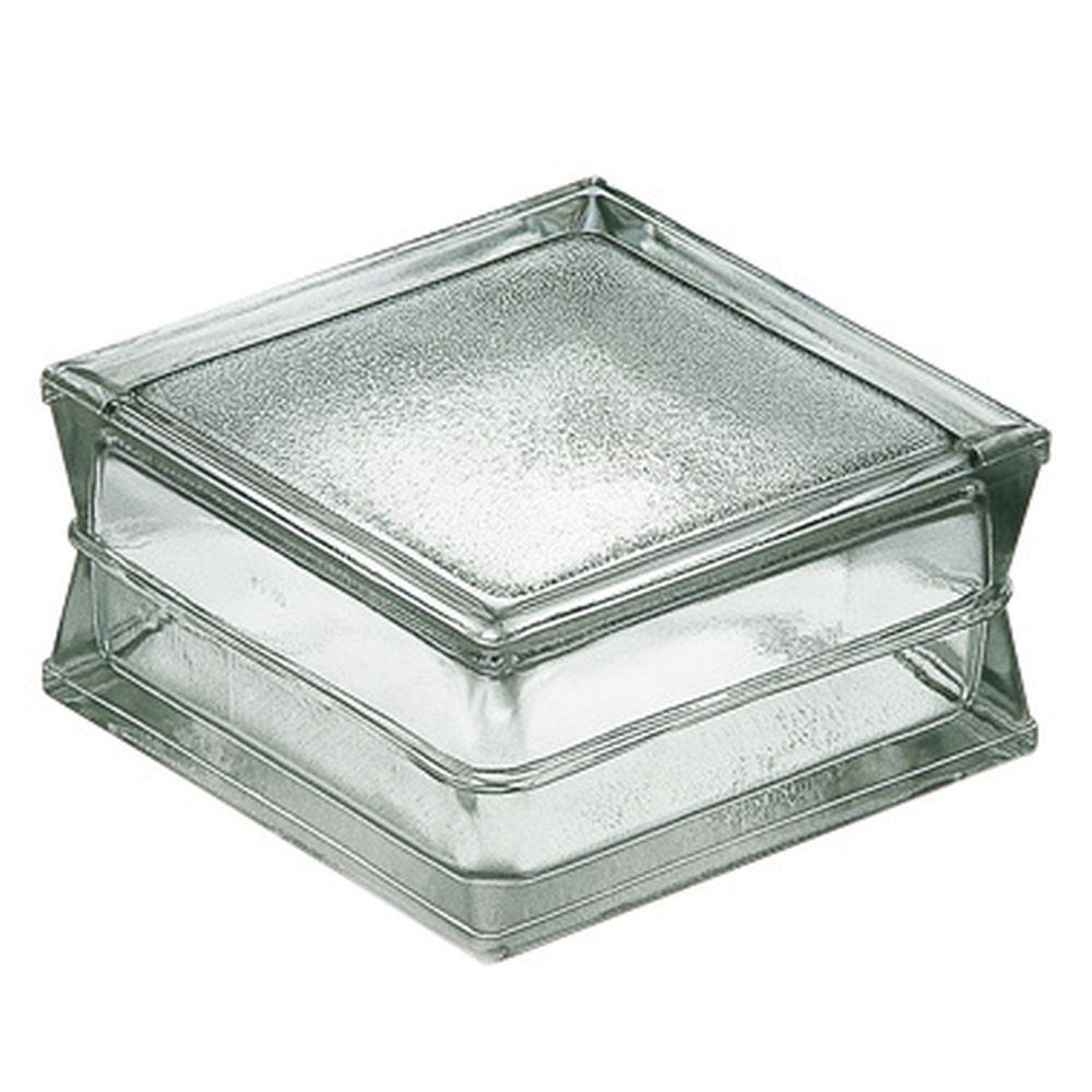 10 pièce Béton Verre Incolore Pavé rond simple paroi transparent 12x6 cm