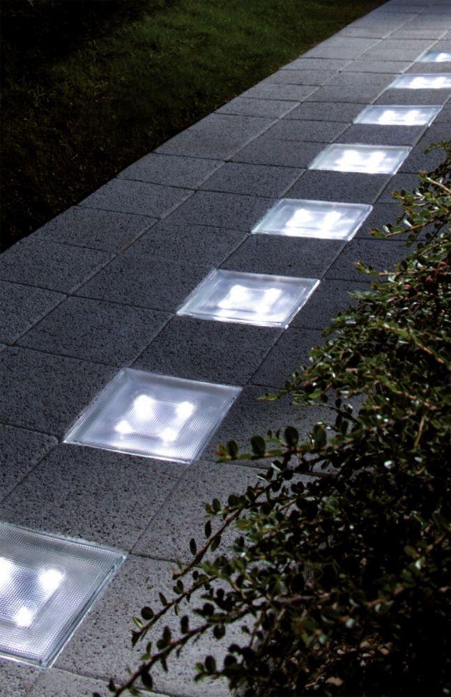 LED Solarstein Bodenlampe Weg-Beleuchtung Solar-Bodenleuchte Pflastersteine
